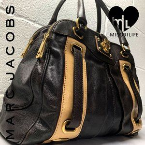 MARC JACOBS Leather Striping Hudson Tote